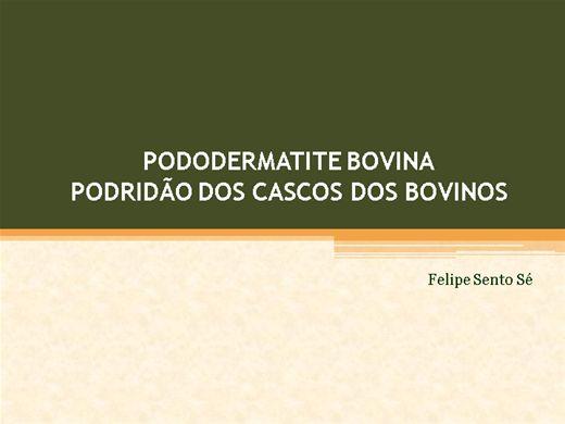 Curso Online de Pododermatite Pecrosante em Bovinos