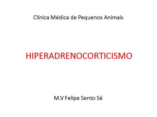 Curso Online de Hiperadrenocorticismo em Cães e Gatos