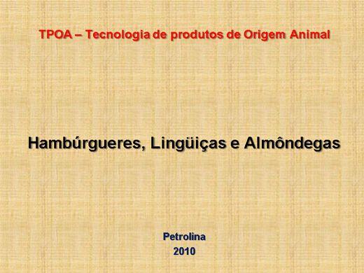 Curso Online de Hambúrgueres, Lingüiças e Almôndegas
