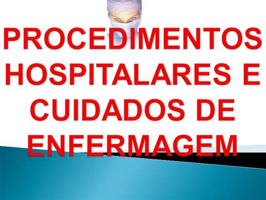 Curso Online de Procedimentos Hospitalares e Cuidados de Enfermagem