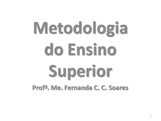 Curso Online de Metodologia do Ensino Superior