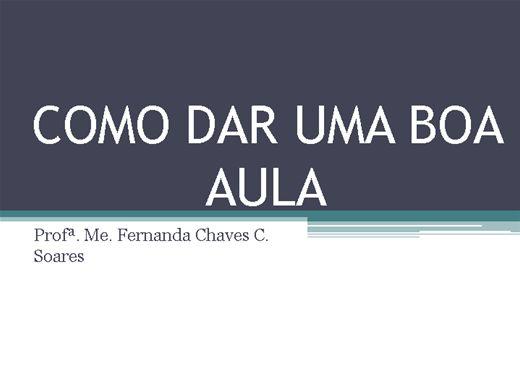 Curso Online de COMO DAR UMA AULA