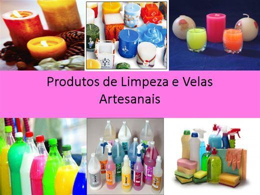 Curso Online de Velas e Produtos de limpeza