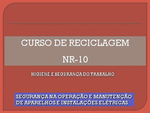 Curso Online de Reciclagem NR 10