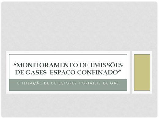Curso Online de UTILIZAÇÃO E MONITORAMENTO DE DETECTORES PORTÁTEIS DE GÁS