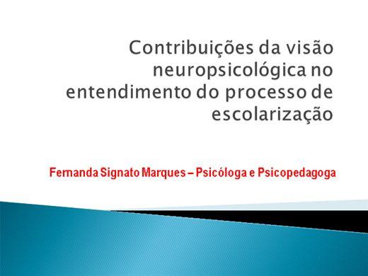 Curso Online de Contribuições da visão neuropsicológica no entendimento da aprendizagem