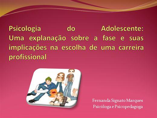 Curso Online de Psicologia do Adolescente e Escolha Profissional