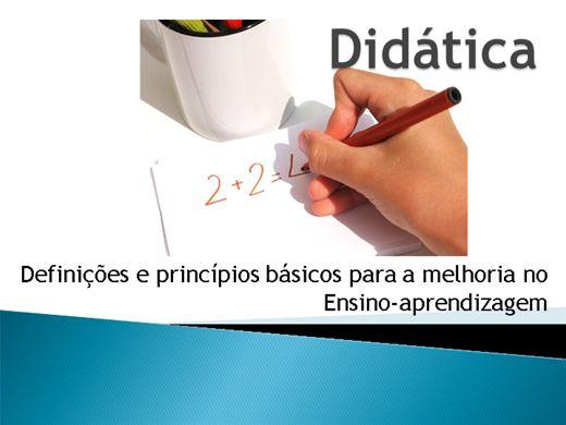 Curso Online de Didática: Definições e Princípios básicos para a melhoria no ensino-aprendizagem