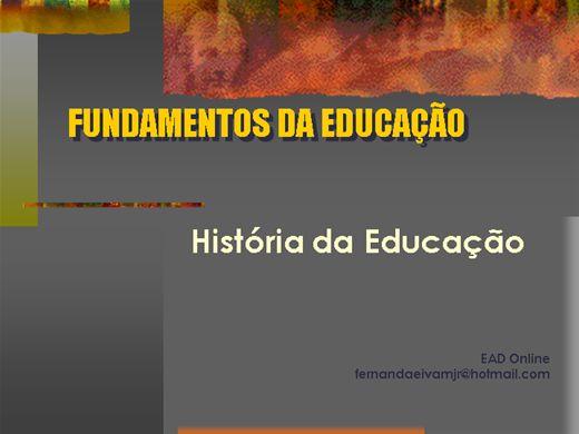 Curso Online de Fundamentos da Educação: História da Educação