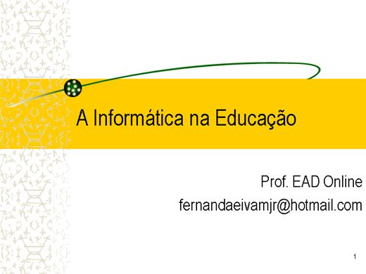 Curso Online de Informática na Educação I