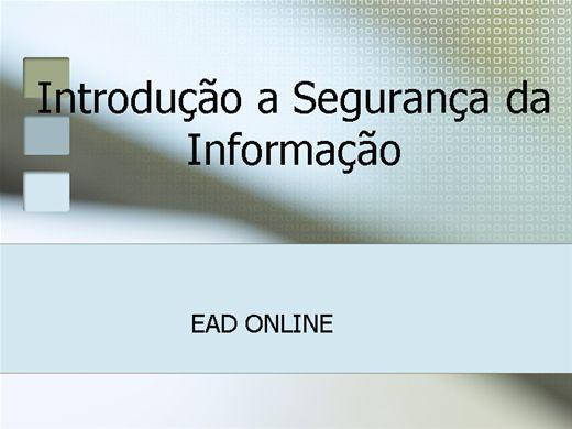 Curso Online de Introdução a Segurança da Informação
