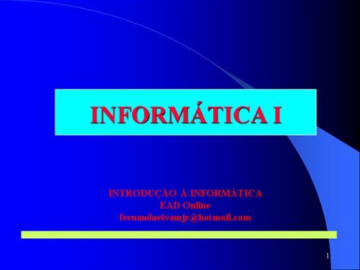 Curso Online de Informática I