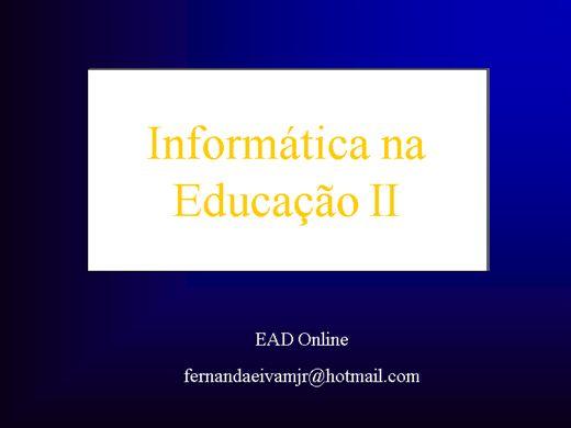 Curso Online de Informática na Educação II