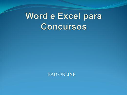 Curso Online de Word e Excel para Concursos