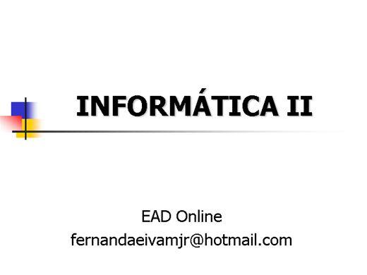 Curso Online de Informática II
