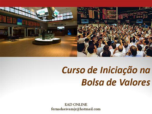 Curso Online de Iniciação na  Bolsa de Valores
