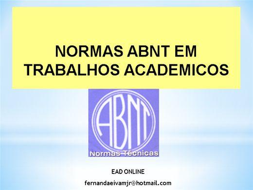 Curso Online de NORMAS ABNT EM TRABALHOS ACADEMICOS