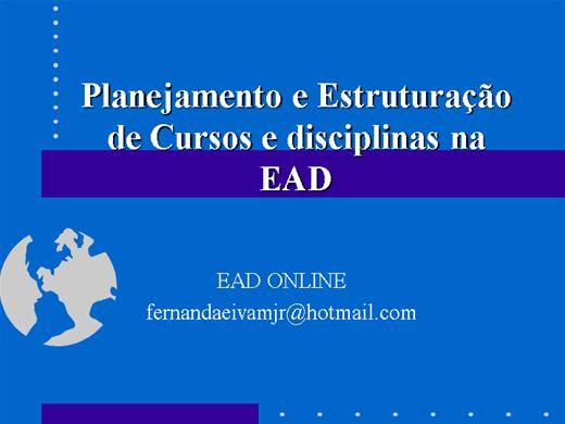 Curso Online de Planejamento em EAD