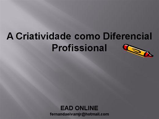 Curso Online de Criatividade como Diferencial Profissional