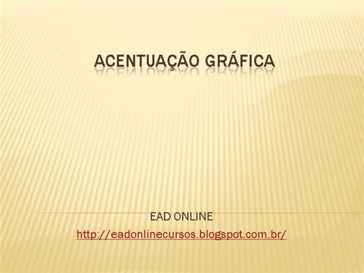 Curso Online de Acentuação Gráfica de Acordo com o Novo Acordo Ortográfico