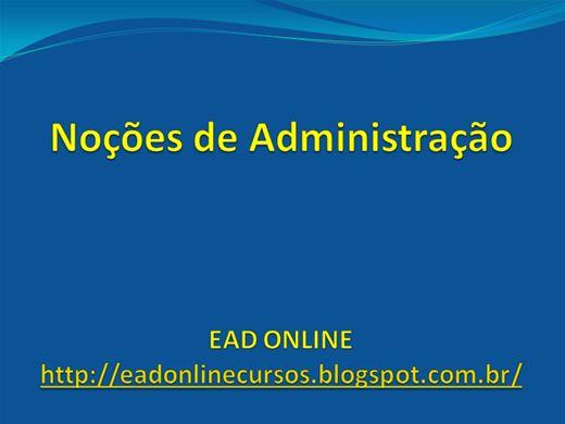 Curso Online de Noções de Administração