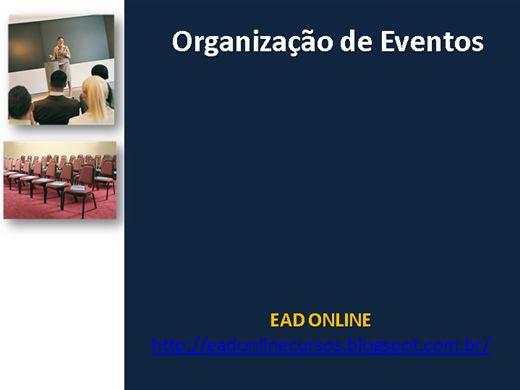 Curso Online de PLANEJAMENTO E ORGANIZAÇÃO DE EVENTOS