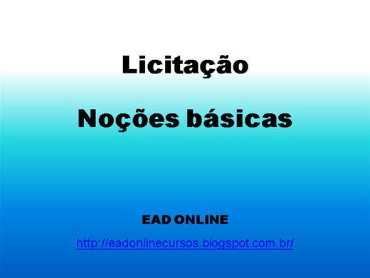 Curso Online de CURSO BÁSICO DE LICITAÇÃO