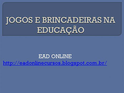 Curso Online de JOGOS E BRINCADEIRAS NA EDUCAÇÃO