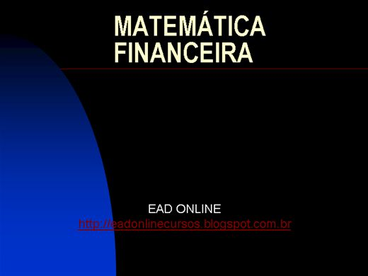 Curso Online de MATEMÁTICA FINANCEIRA