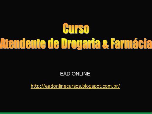 Curso Online de ATENDENTE DE FARMÁCIAS E DROGARIAS