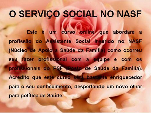 Curso Online de O SERVIÇO SOCIAL NO NASF