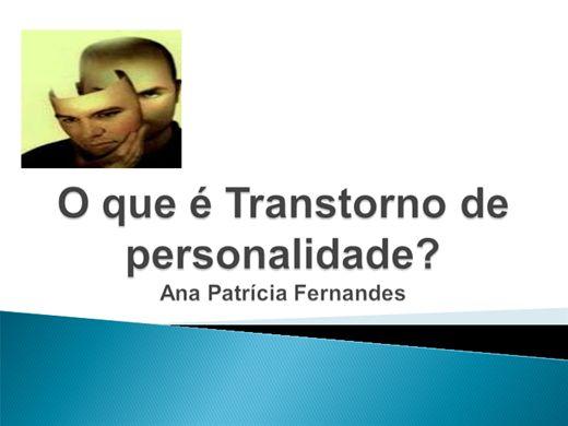 Curso Online de O que é Transtorno de personalidade?