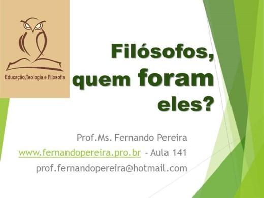 Curso Online de FILÓSOFOS QUEM FORAM ELES?
