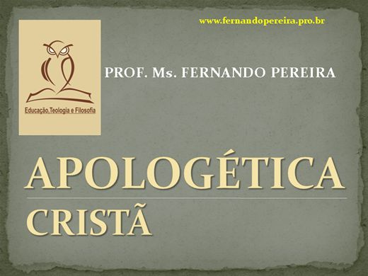 Curso Online de APOLOGÈTICA CRISTÃ