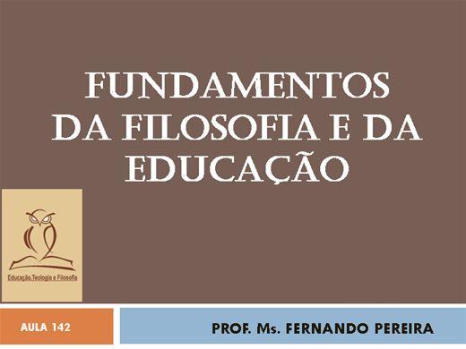 Curso Online de FUNDAMENTOS DA FILOSOFIA E DA EDUCAÇÃO