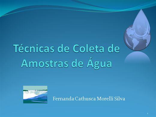 Curso Online de Técnicas de Coleta de Amostras de Água