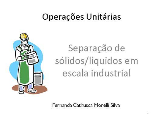 Curso Online de Separação de Sólido/Líquido em escala industrial