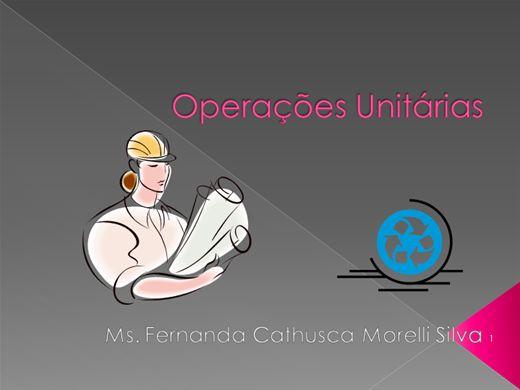 Curso Online de Operações Unitárias