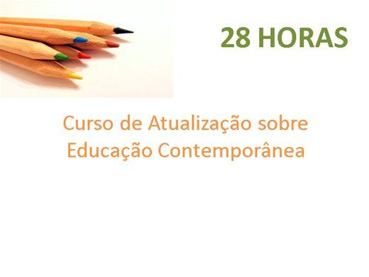Curso Online de Atualização sobre Educação Contemporânea