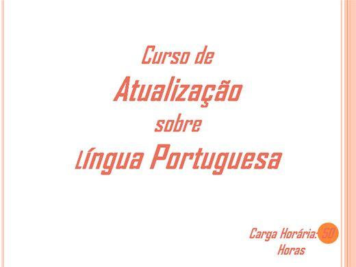 Curso Online de Atualização  sobre  Língua Portuguesa
