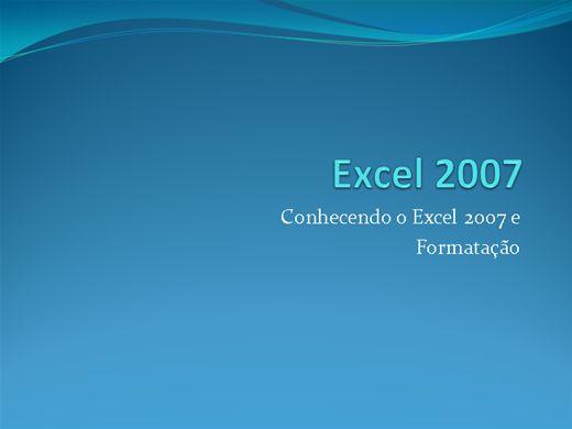 Curso Online de EXCEL 2007