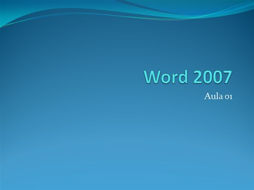 Curso Online de Word 2007