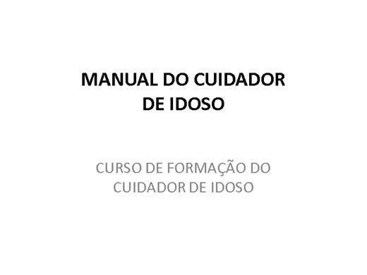 Curso Online de CURSO PARA FORMAÇÃO DE CUIDADOR DE IDOSO