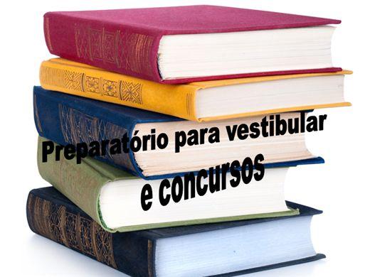 Curso Online de Preparatório para concurso e vestibular.