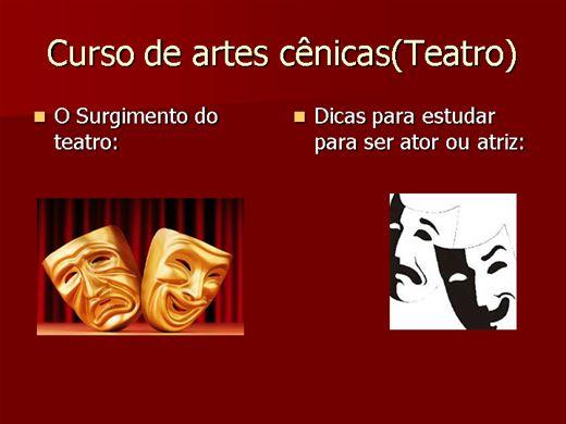 Curso Online de curso de cinema e teatro