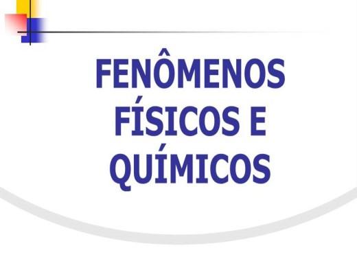 Curso Online de Fenômenos físicos e Quimicos.