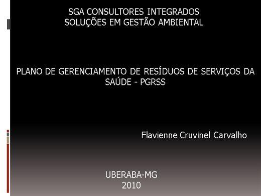 Curso Online de PLANO DE GERENCIAMENTO DE RESÍDUOS DE SERVIÇOS DE SAÚDE - PGRSS