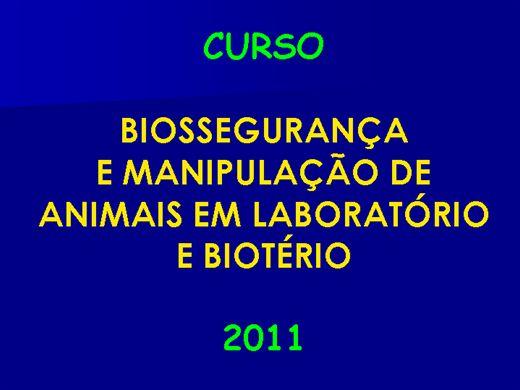 Curso Online de Biossegurança e Manipulação de Animais em Laboratório e Biotério