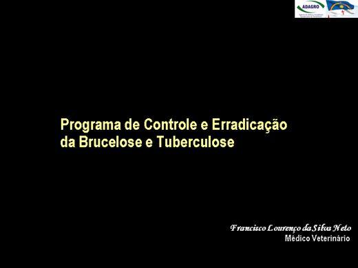 Curso Online de Programa Nacional de Erradicação e Controle de Brucelose e Tuberculose (PNECBT)