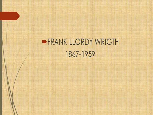 Curso Online de frank llord wright
